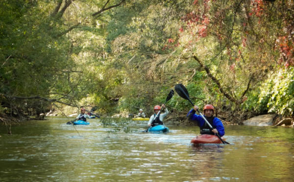 In der Toasted Thermic - Kajakschule lernst du sicher und effizient, wie du dich am Wasser fortbewegst!