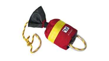 Mit dem Wurfsack kannst du SchwimmerInnen zu Hilfe eilen.