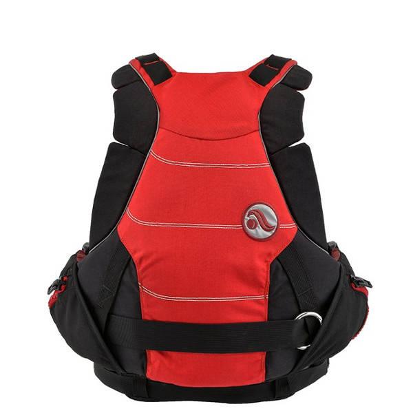 Eine Wildwasserweste mit innovativen Details, super Passform und viel Bewegungsfreiheit. Und großer Fronttasche!