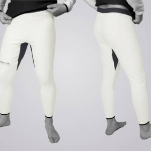 TOASTED THERMIC – Trousers aus WHITE PowerStretch™ und OMBRE BLUE PowerStretch™ .