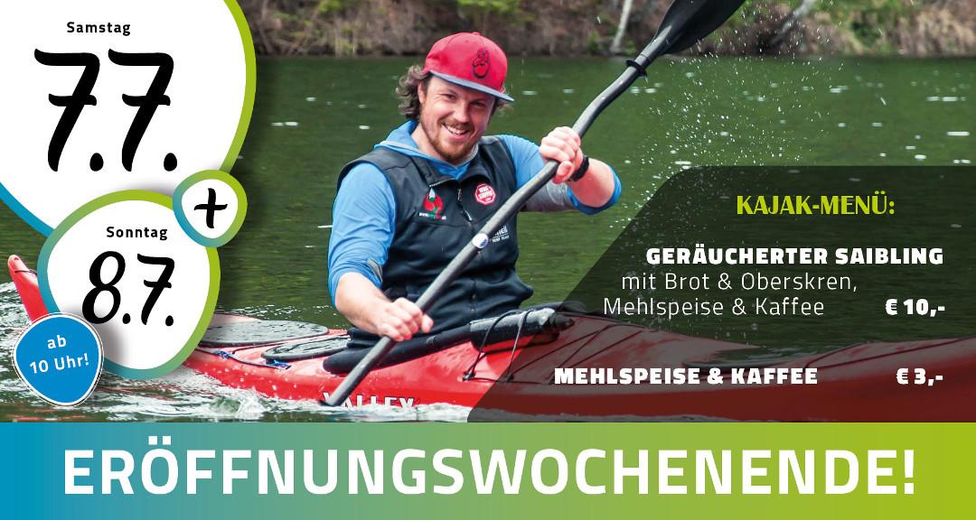 7. und 8. Juli 2018 in Edelschrott, Buffet Seeblick zur Ströhbernen Brücke, ab 10 Uhr, mit Coaching, reduzierten Verleihgebühren und geräuchertem Saibling!